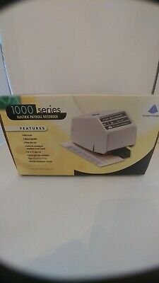Pyramid Technologies 1000 Series Electric Payroll Recorder Works