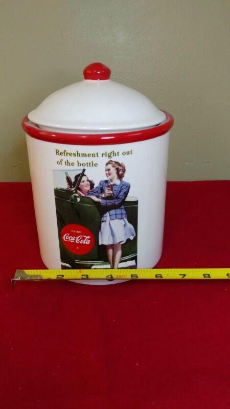 Vintage Look Coca Cola Cannister
