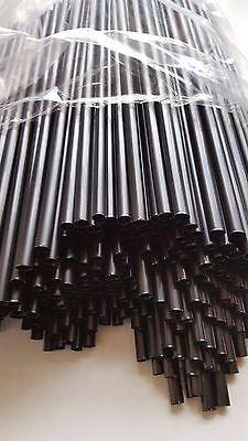1000St.,Jumbo-Trinkhalme  Cocktail -Strohhalme 8x250 mm, Maxi Trinkhalm Schwarz