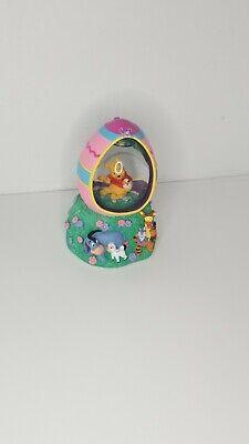 Disney Store Music Box Pooh Tigger Eeyore Easter Egg Snowglobe