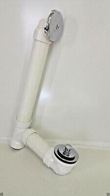 New AB&A Push N Lift Bath Waste Full Kit Chrome PVC ABA911 Tub Shower Drain -