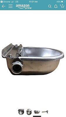 Stainless Steel Automatic Water Feeder Trough Bowl For Horse Goat Sheep Cattle
