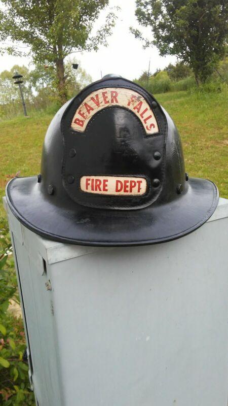 Vintage Fire Fighting Helmet Beaver Falls PA Fiber Glass