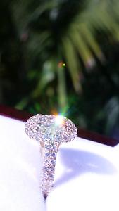 2.50+ carat Halo Diamond Ring Southbank Melbourne City Preview