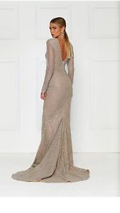 Honey couture dress silver and nude