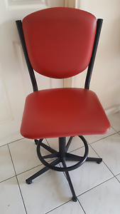 Retro Red Bar Stools x 4 chairs Beaumaris Bayside Area Preview