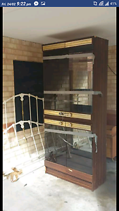 FREE - Display cabinet 2.2m tall. Must go this weekend. Wilson Canning Area Preview