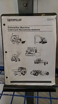 Caterpillar Machine Lubricant Recommendations