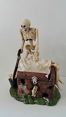 Spardose Skelett Gerippe Sparbüxe Gothic Gusseisen mit Aufziehfunktion *genial*