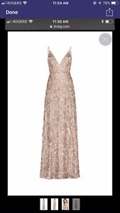 bcbg metallic sequins dress - perfect for prom