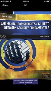 Lab manual for security + guide to network security fundamentals