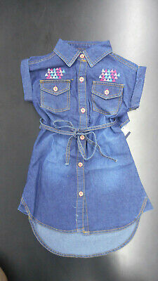 Toddler Girls Limited Too $30 Blue Jean Dress Sizes 2T - 4T