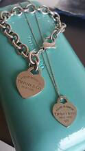 Tiffany & co chunky bracelet and heart tag necklace set Hillside Melton Area Preview