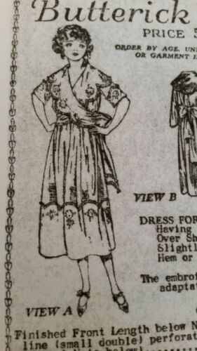 Antique Sewing Pattern- Ladies Dress #2878