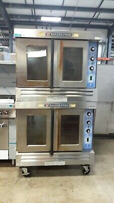 Used Bakers Pride Gdco-g2 Double-deck L.p. Gas Convection Ovens