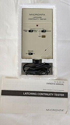 Vintage Radio Shack Micronta 22-110 Latching Continuity Tester