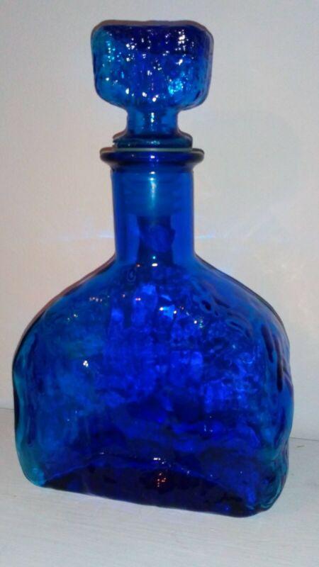 Vintage Whitefriars Blue Decanter