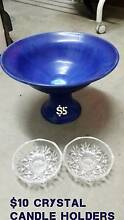 Ceramic Fruit Bowl or Crystal candle holders Beenleigh Logan Area Preview