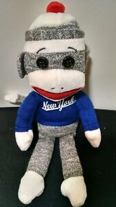 Ty Beanie Baby New York Sock Monkey Stuffed Animal Plush Toy