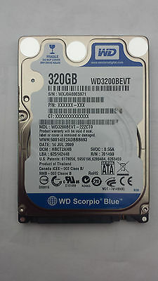 WESTERN DIGITAL WD3200BEVT-22ZCTO 320GB DCM: HBCT2ANB 2.5 Sata Laptop Hard