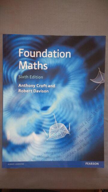 Foundation Maths: Robert Davison, Anthony Croft (Paperback, 2016) Sixth Edition