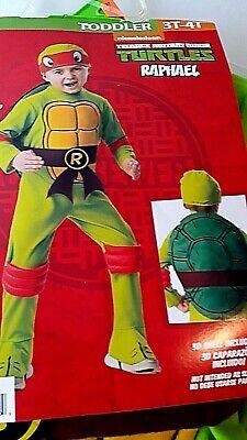 NEW Teenage Mutant Ninja Turtle Raphael Toddler Boys Halloween Costume 3T-4T](Ninja Turtle Toddler Halloween Costume)