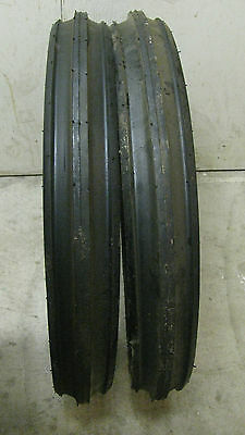 400x19 4.00-19 400-19 F2 Triple Rib Ford 2n 9n Front Tractor Tires With Tubes