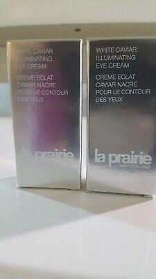 Used, 2 x La Prairie White Caviar Illuminating Eye Cream 3ml Each.  6ml total for sale  Yorba Linda