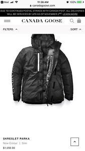 $1200 Men's Canada Goose jacket parka Skreslet Medium Large