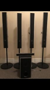 Sony Speakers Subwoofer and DENON Audio video Amp