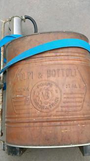 For sale Antique copper garden sprayer. Made in Italy