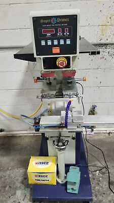 Super Primex Spc-824sd 2-color Automatic Pad Printer Machine Closed Ink Cup