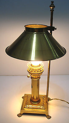 Vintage Brass ORIENT EXPRESS Paris Istanbul Railroad Dining Table Lamp Claw Feet