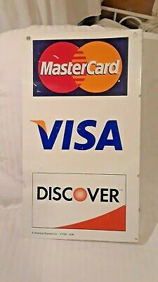 Metal Double Sided Credit Card Display Sign