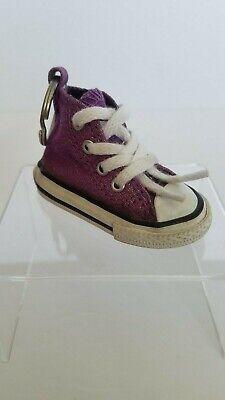 Converse All Star Chuck Taylor Sneaker Shoe Key Ring Keychain Purple Sparkle
