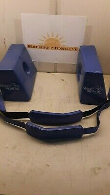 Ferno Universal Head Immobilizer Model 445 Side Pieces And Straps Blue