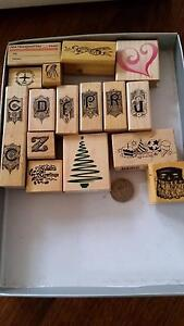 Rubber stamps for craft set 3 Mitcham Whitehorse Area Preview