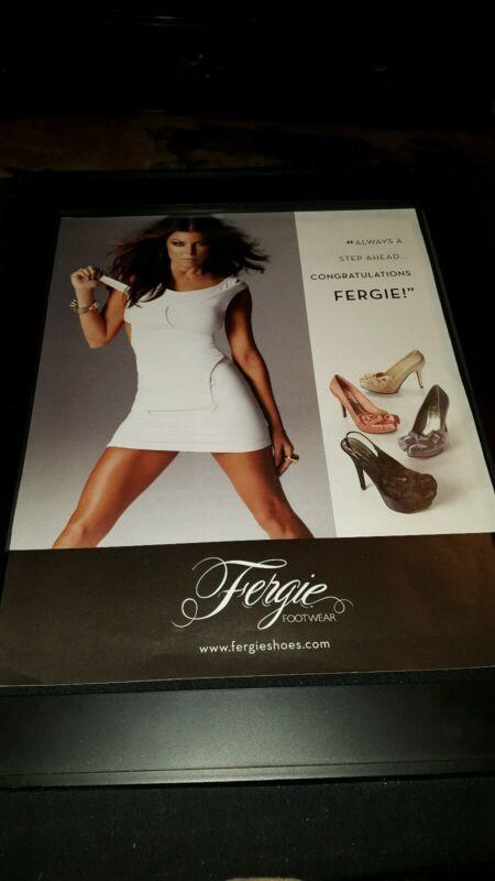 Fergie Fergie Footwear Rare Original Promo Poster Ad Framed!