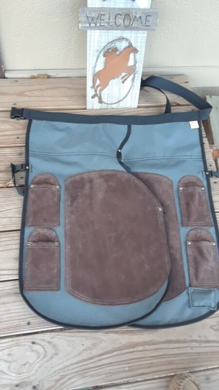 """HORSESHOEING CHAPS/FARRIER SHOEING APRON/W/MAG/  """" FOUR POCKETS """""""
