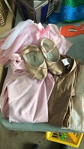 Dance clothes and ballet slippers