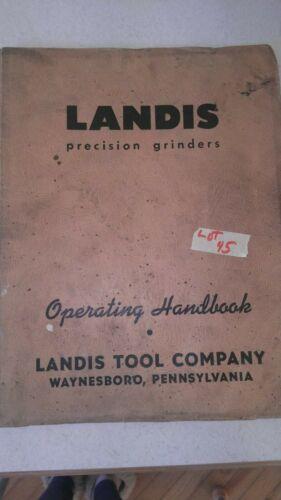 Landis Precision Grinder Operating Handbook