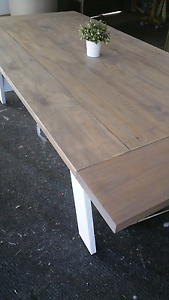 New Handmade Rustic Hamptons Style Dining Tables Stapylton Gold Coast North Preview