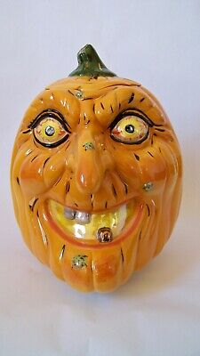 SHIRLEY CORL PUMPKIN WITCH COOKIE JAR LAST ONE MADE