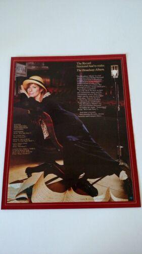 "BARBRA STREISAND ""THE BROADWAY ALBUM"" 1985 RARE ORIGINAL PRINT PROMO POSTER AD"
