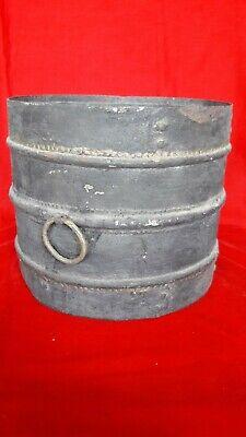 Primitive Antique Rustic Iron South Indian Grain - Paddy Measure Bucket Rare i-1