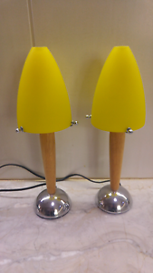 Small table lamps - Yellow Glass Shades Palm Cove Cairns City Preview