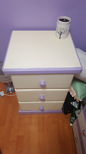 Purple and White Bedside Table Cabramatta West Fairfield Area Preview