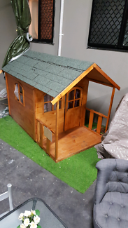 cubby house and play kitchen wood 2 month old