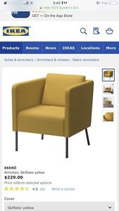IKEA Ekero arm chair and matching ottoman !