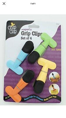 Chip Clip Set - Chip Clip Good Grips 4-piece Colorful Clip Set Magnetic
